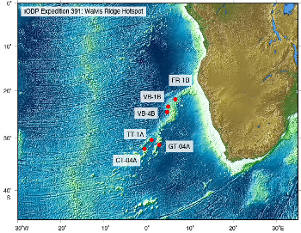 IODP Expedition 391: Walvis Ridge Hotspot